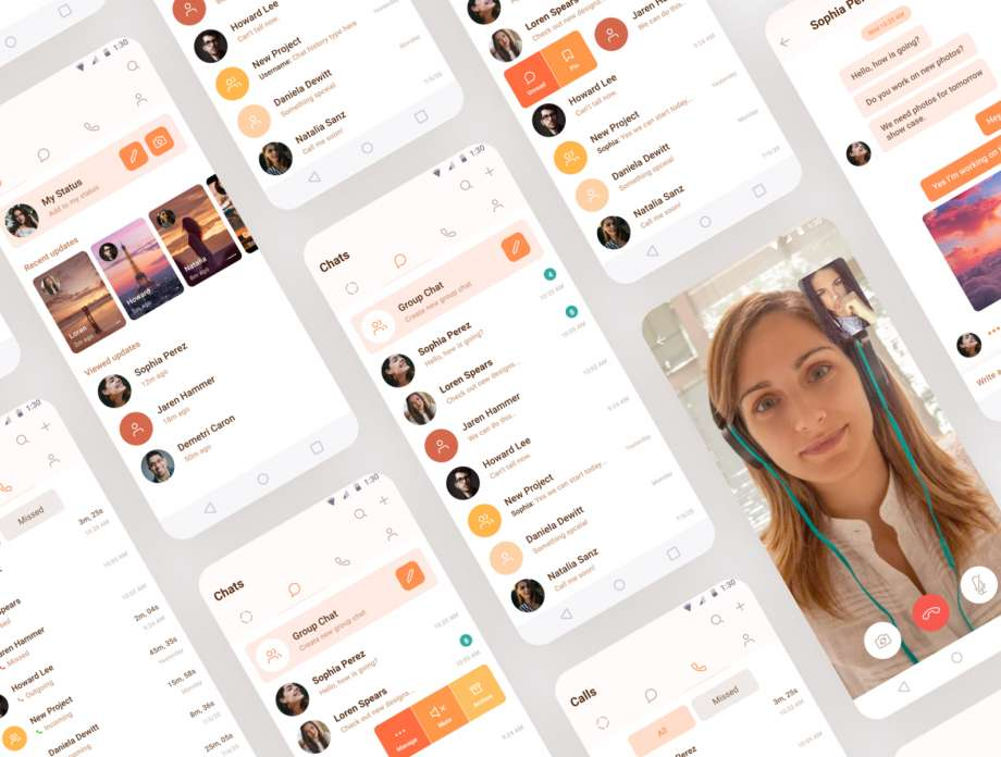 Free Chat App for Android UI Kit