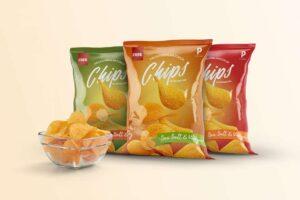 Free Chips Bag Packaging Mockup