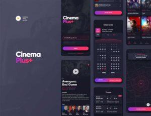 Free CinemaPlus APP Ui Kit