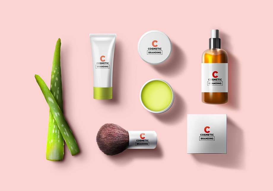 Free Cosmetic Brand Packaging Mockup