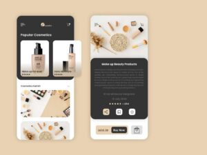Free Cosmetics Mobile App Store Design (PSD)