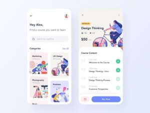 Free Course App Concept UI