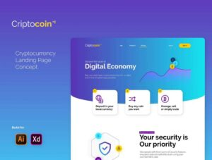 Free Cryptocoin Landing Page (XD)