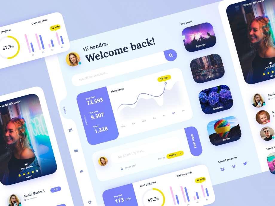 Free Dashboard UI Kit (XD)