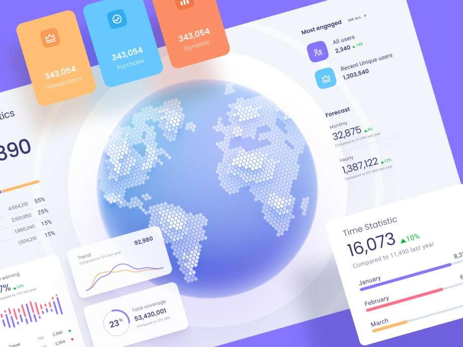 Free Data Map Visualisation UI Kit