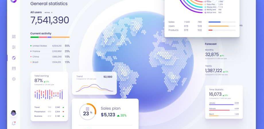 Free Data Map Visualization UI Template