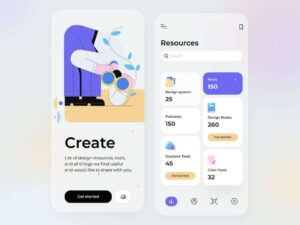 Free Design Resources Mobile App UI Kit