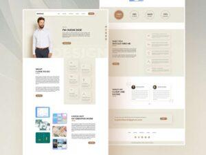 Free Designer Portfolio Landing Page