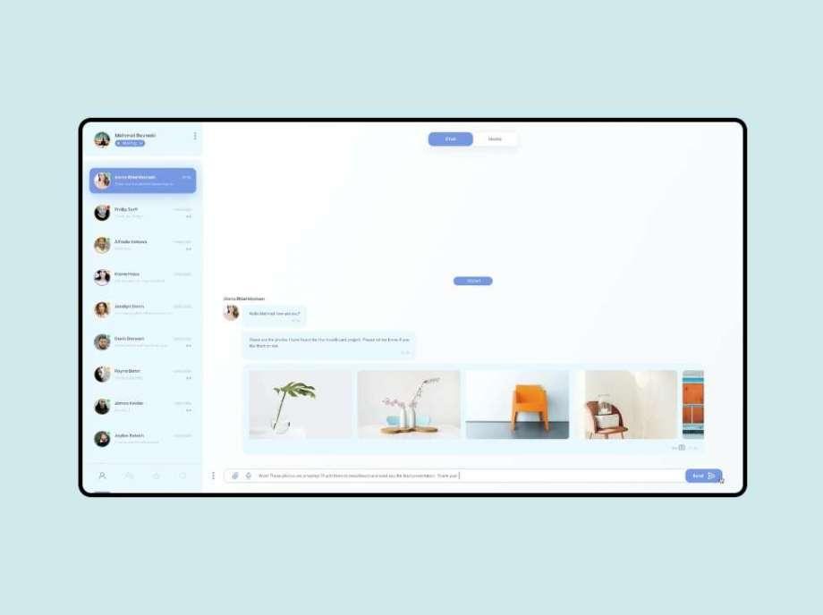 Free Desktop Chat App UI Screen