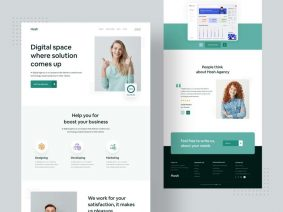 Free Digital Agency Landing Page XD