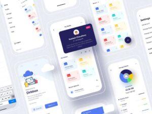 Free Dribbox Online Cloud Storage UI Kit