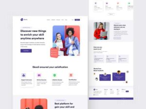 Free Education Website XD Template