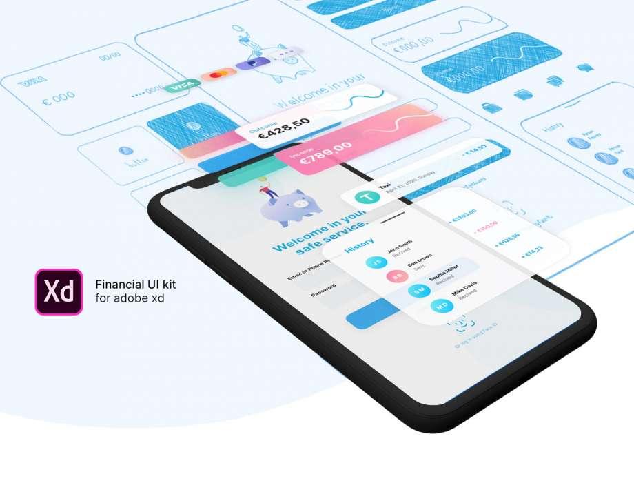 Free Finance UI Kit (XD)