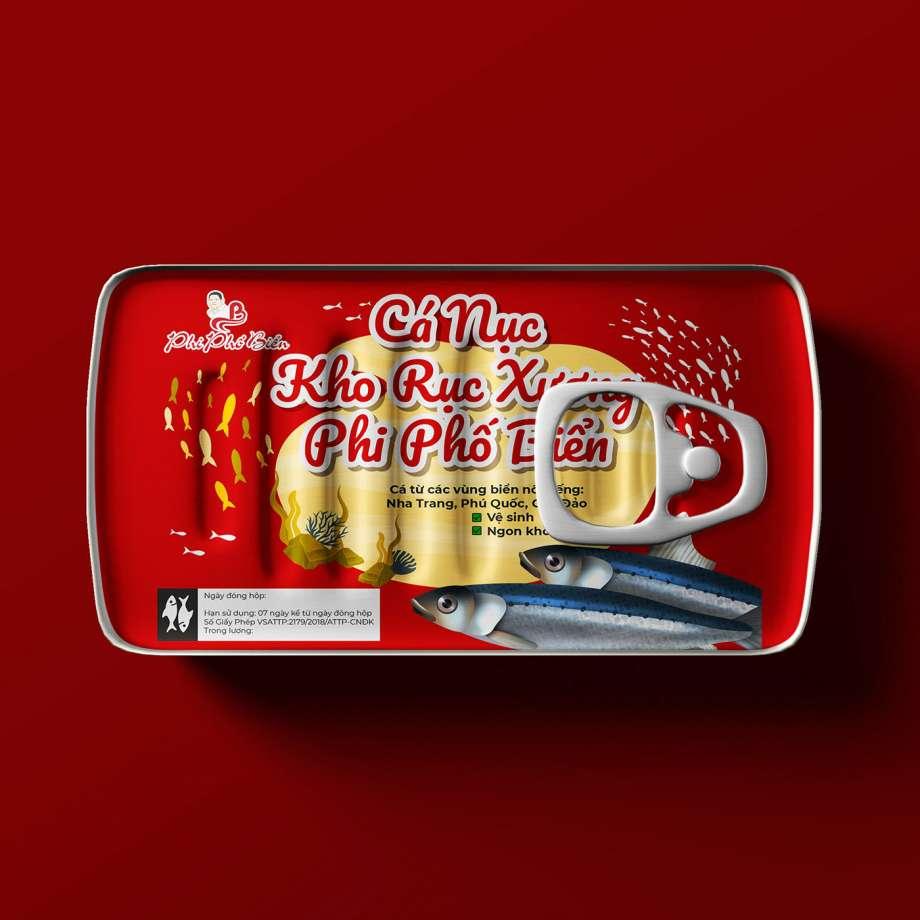 Free Fish Tin Can Mockup