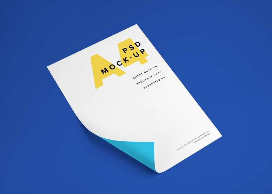 Free Flyer Mockup (A4)