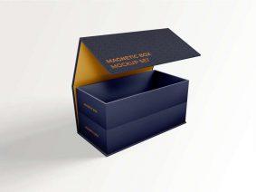 Free Foldable Magnetic Box Mockup