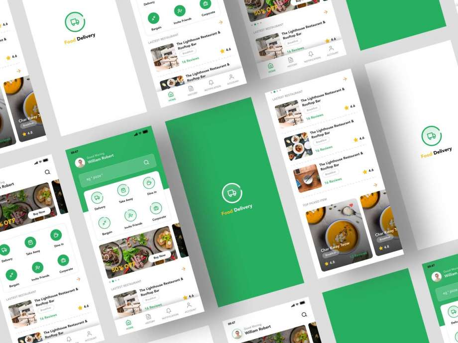 Free Food Delivery App UI