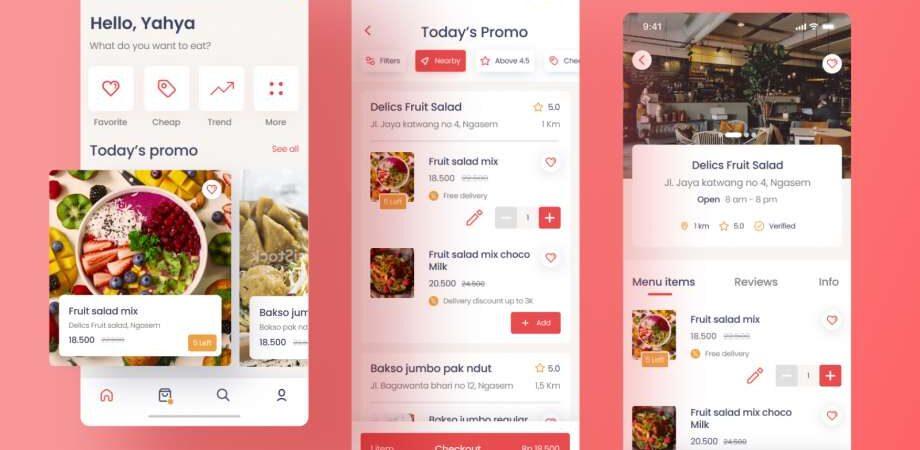 Free Fooder Food Ordering App Concept