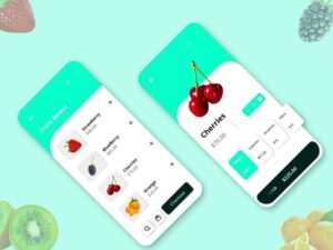Free Fruits Ordering App UI Kit (XD)