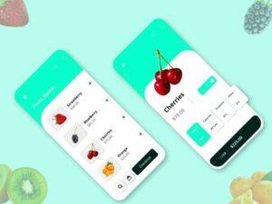 Free Fruits Ordering App UI Kit (XD)