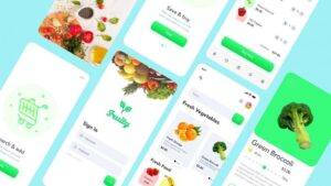 Free Fruity Fresh Food Mobile App UI