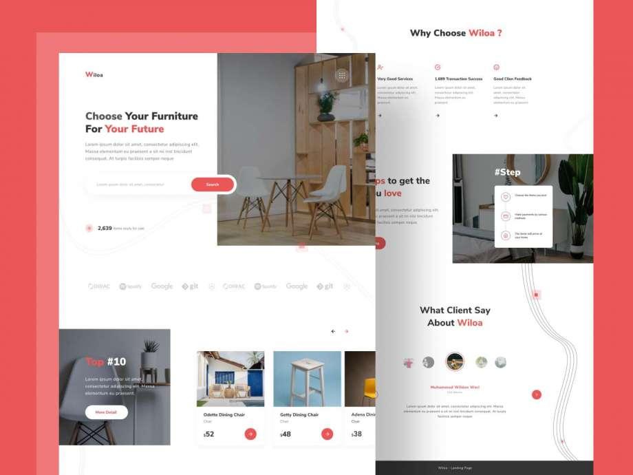 Free Furniture Store Landing Page