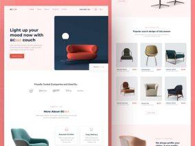 Free Furniture Website Homepage (Landing Page)