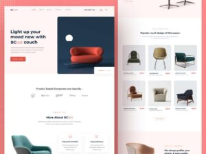 Free Furniture Website Homepage (Landing Page)