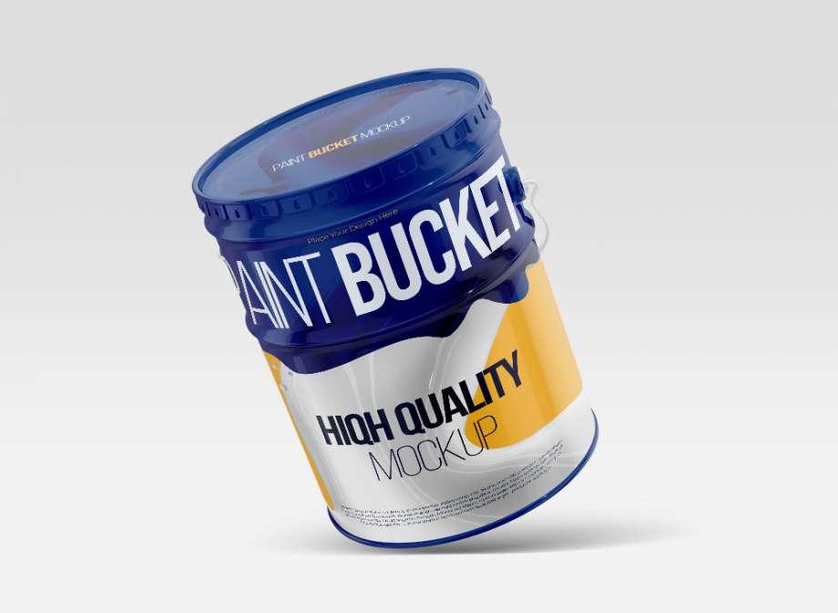 Free Gallon Paint Bucket Mockup