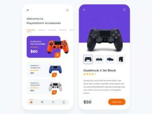 Free Gaming Gear Shop UI Kit Design