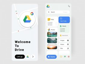 Free Google Drive Redesign UI Kit