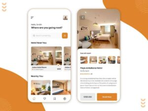 Free Hotel Room Booking App Ui Kit