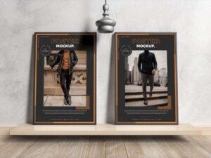 Free Interior Framed Posters Mockup
