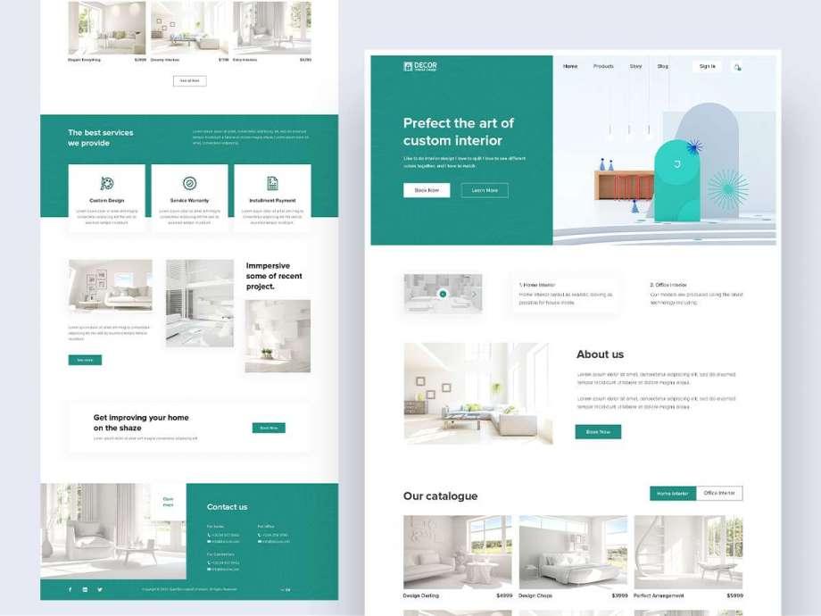Free Interior Landing Page PSD Web Template