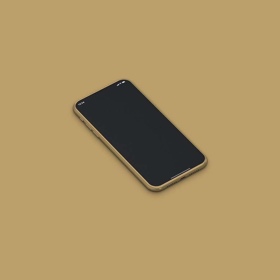 Free Isometric iPhone 11 Mockup