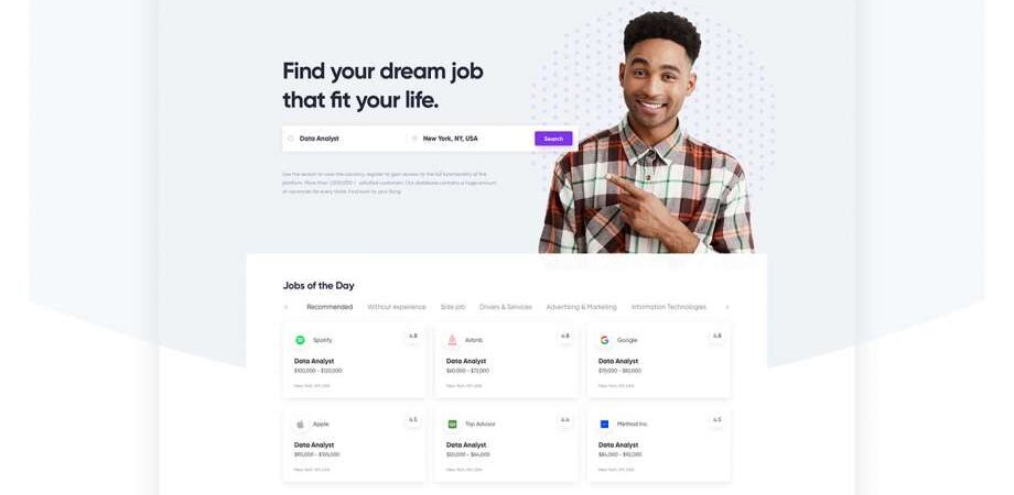 Free Job Search User Experience Website