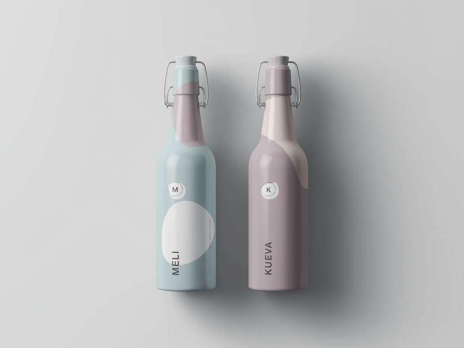 Free Matt Clamp Bottle Mockup