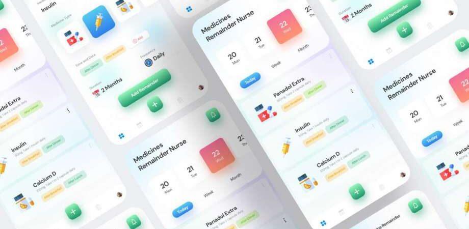 Free Medicine Dashboard UI Kits