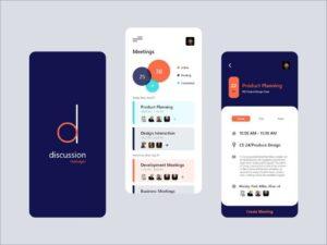 Free Meeting App UI Kit Concept