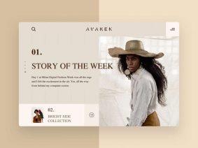 Free Model Agency Web Page UI