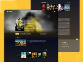 Free Movie Streaming Website XD Template