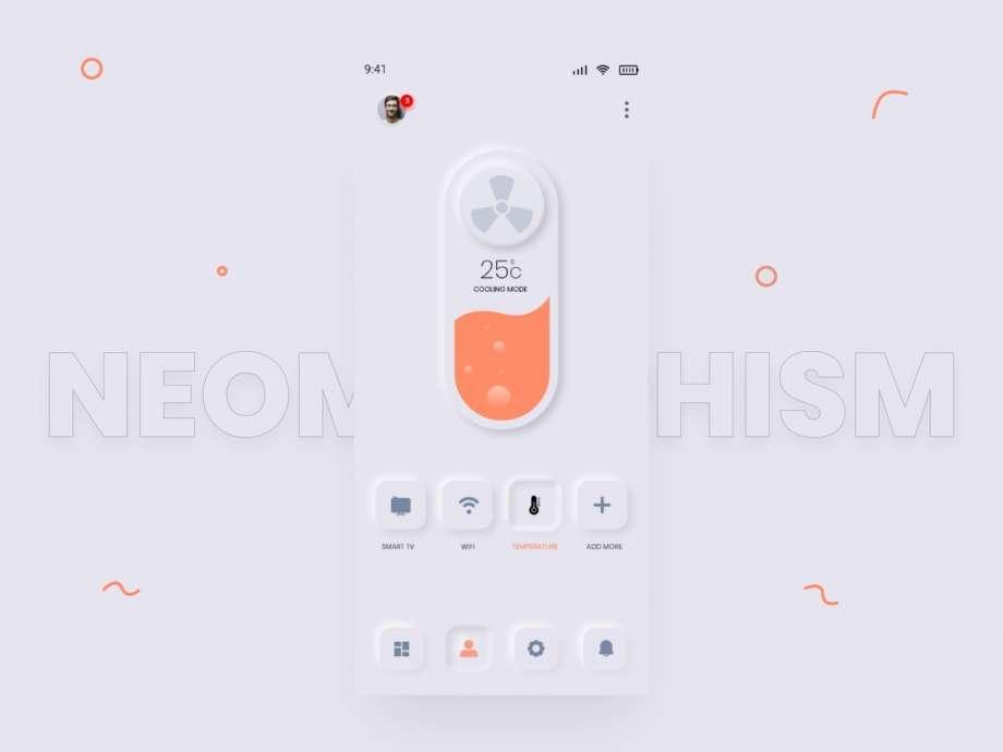 Free Neumorphic APP UI Kit Concept
