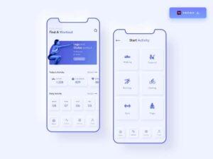 Free Neumorphic App Fitness UI Kit