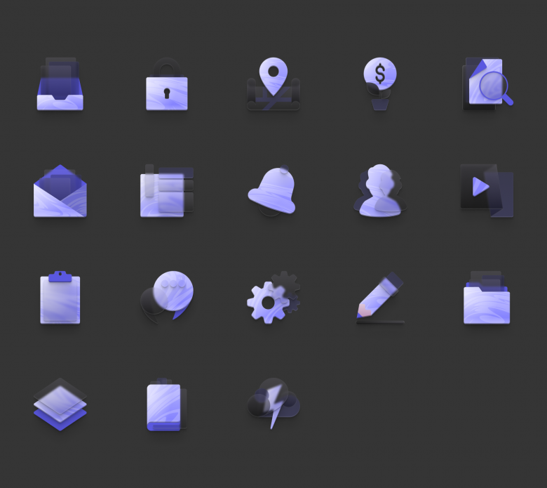 Free Neumorphism Icon Set