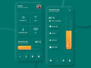 Free Neumorphism Smart Home UI Kit