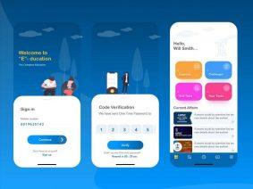 Free Online Education UI Kit Concept