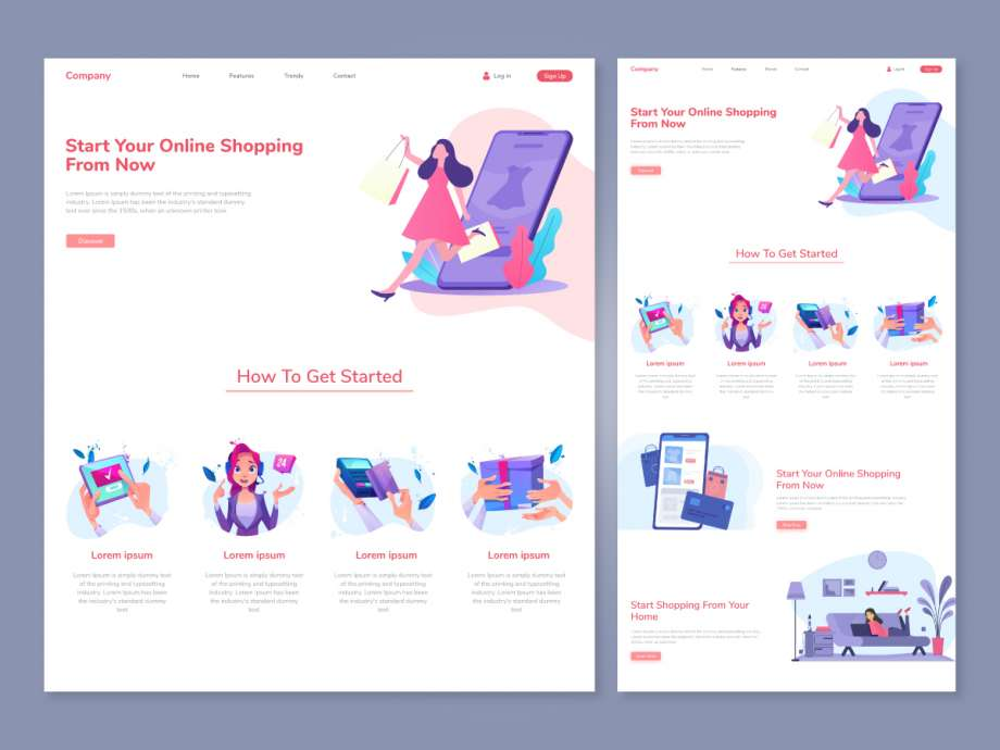Free Online Shopping Website Template
