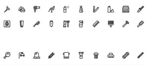 Free Outline Icons for Hairdressing Salon