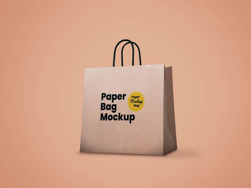Free Paper Bag Mockup (PSD)