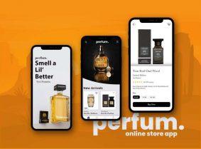 Free Perfume Online Store App Design (PSD)